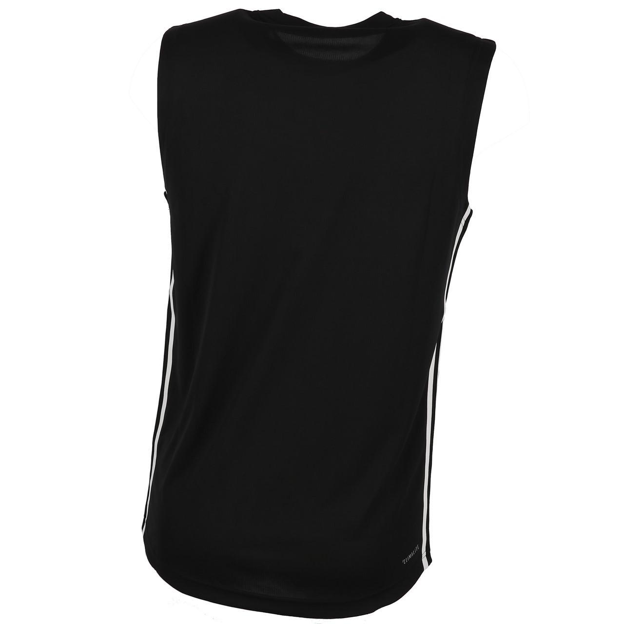 Sleeveless-Shirt-Adidas-D2m-Sl-3s-Blk-Sm-Tee-Black-90912-New thumbnail 5