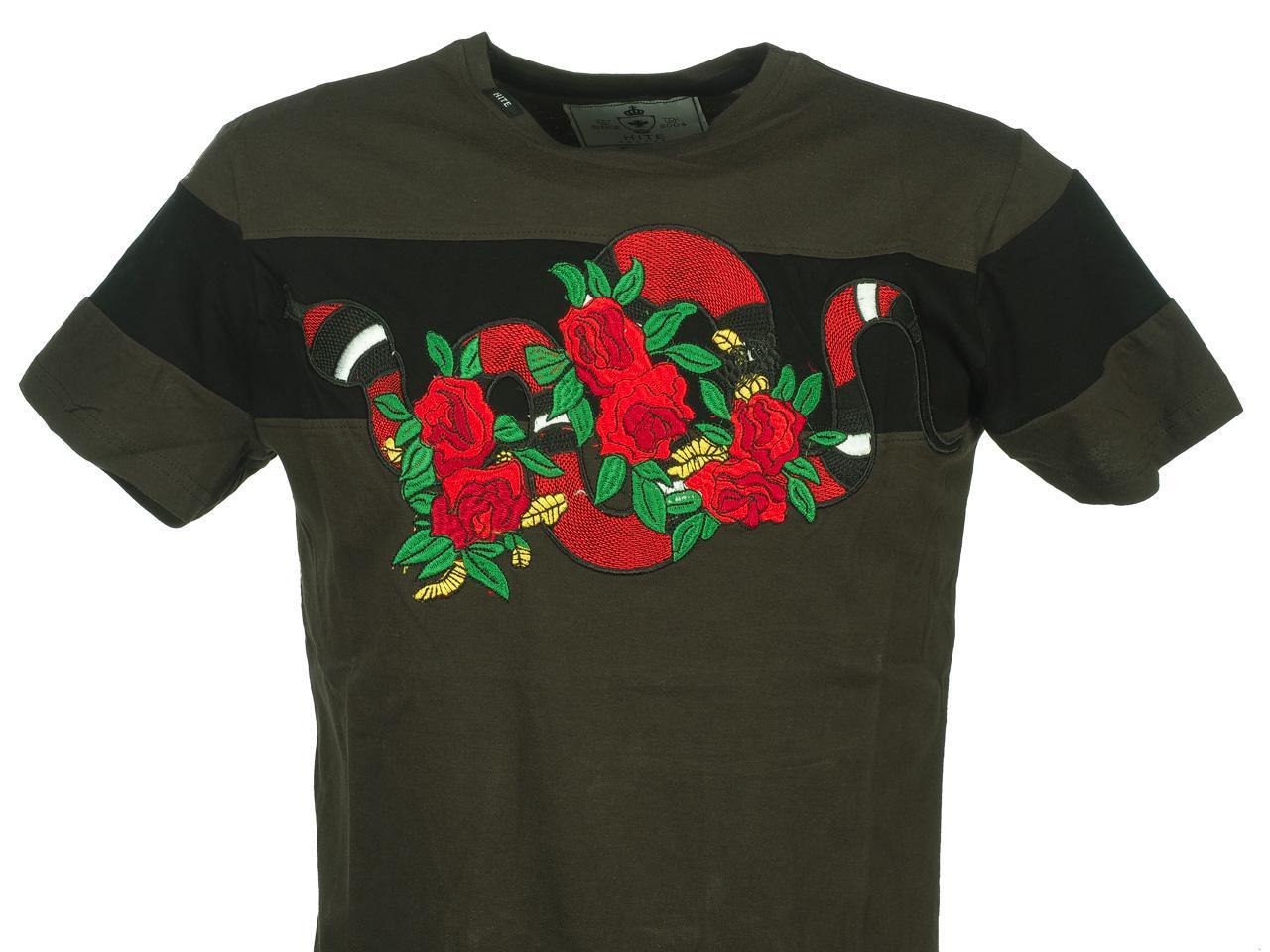 Short-Hite-Couture-Mixer-Kakiblack-Mc-Tee-Green-11537-New thumbnail 2