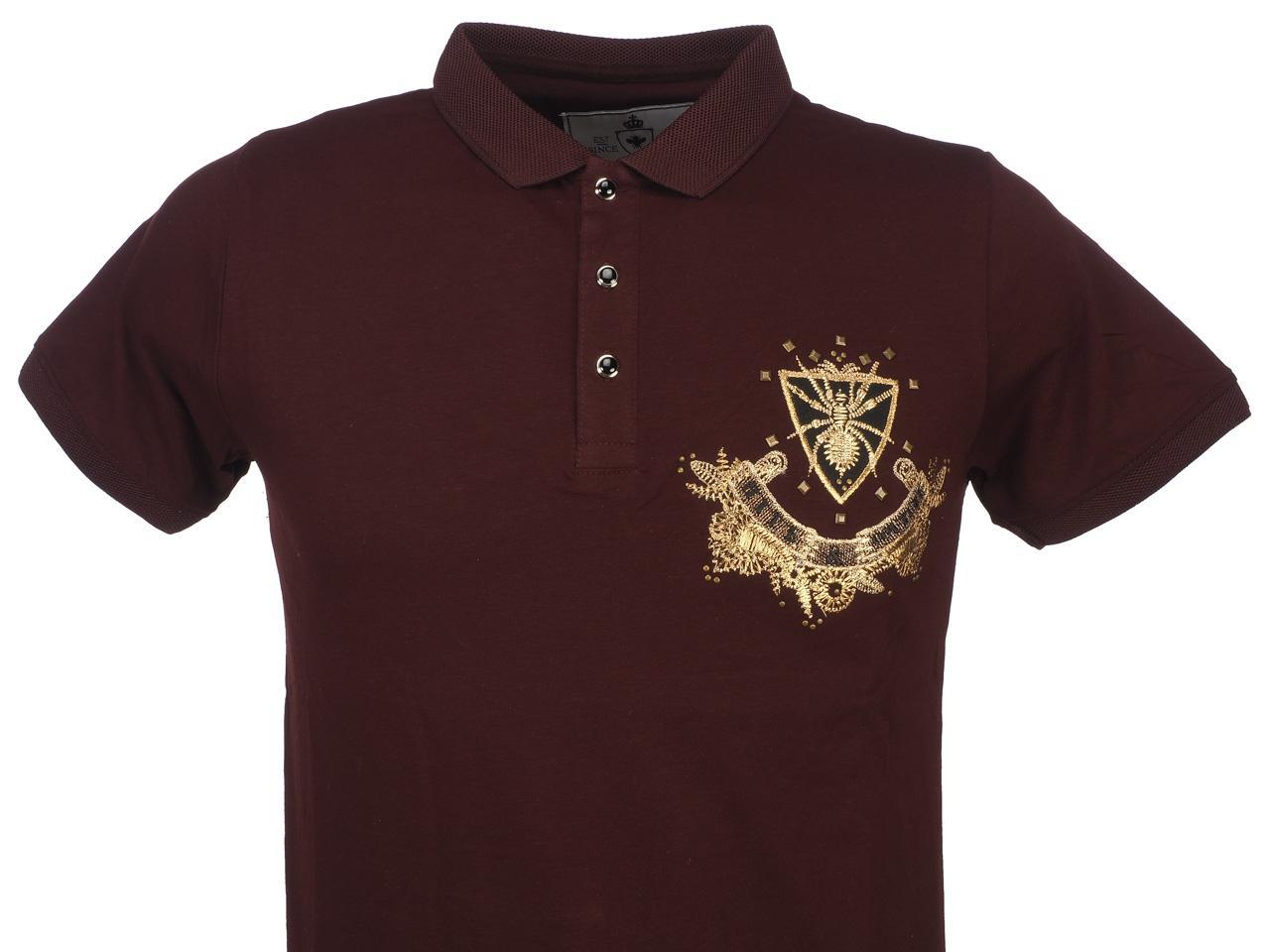 Short-Sleeve-Polo-Hite-Couture-Pamiler-Bordeaux-Mc-Polo-Red-11573-New thumbnail 2