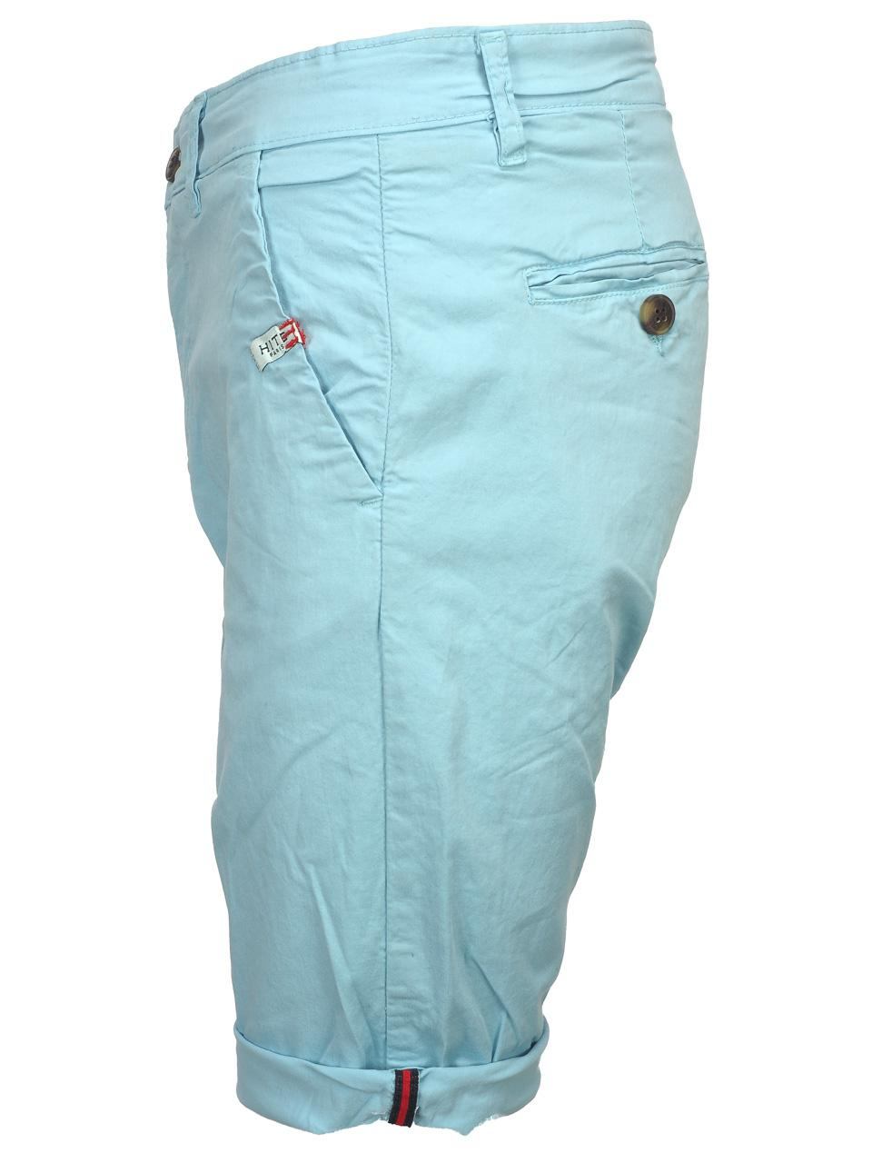 Bermuda-Shorts-Hite-Couture-Vobier-Sky-Bermuda-Chino-Blue-11597-New thumbnail 2