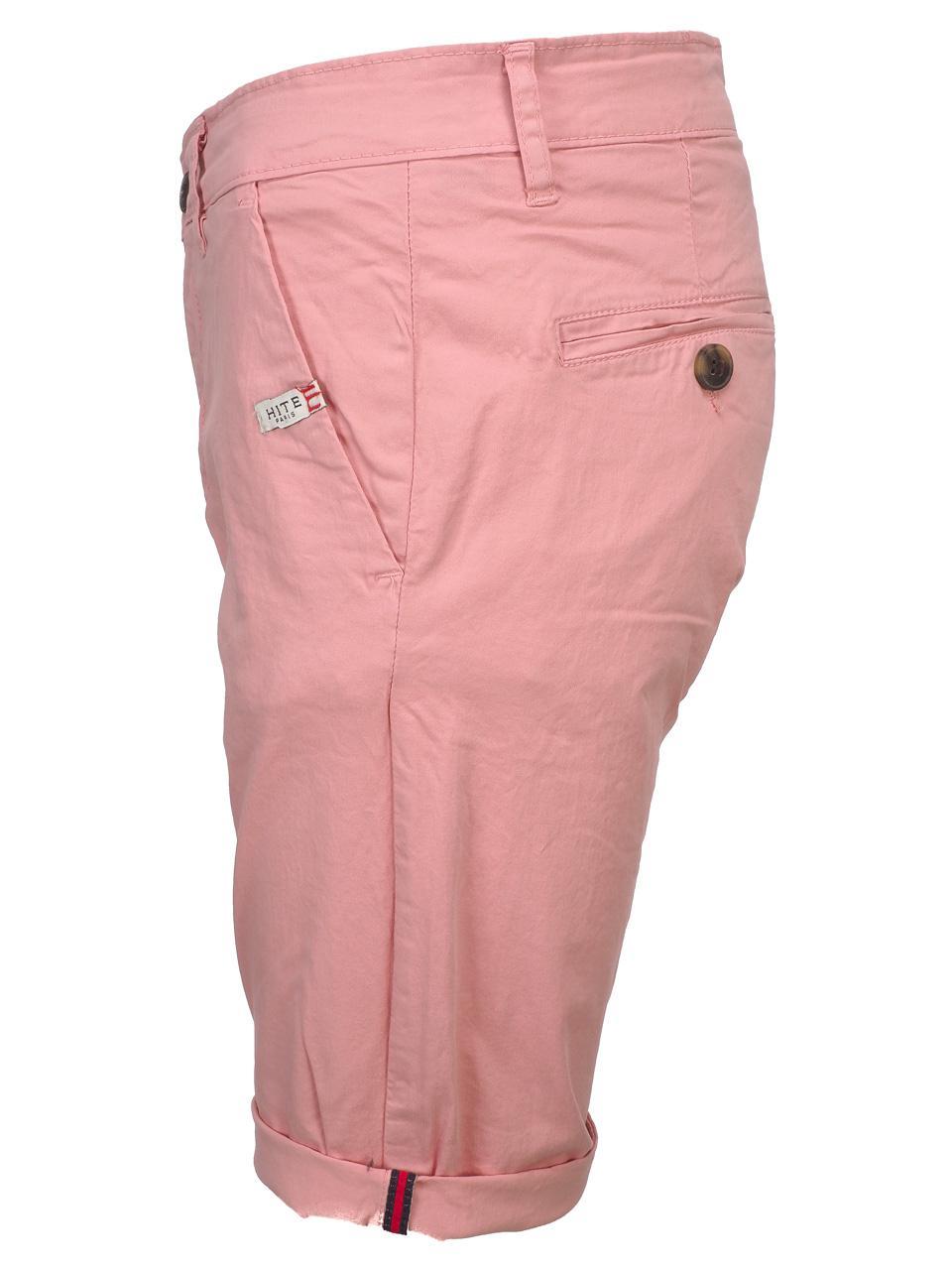Bermuda-Shorts-Hite-Couture-Vobier-Rse-Bermuda-Chino-Pink-11606-New thumbnail 2