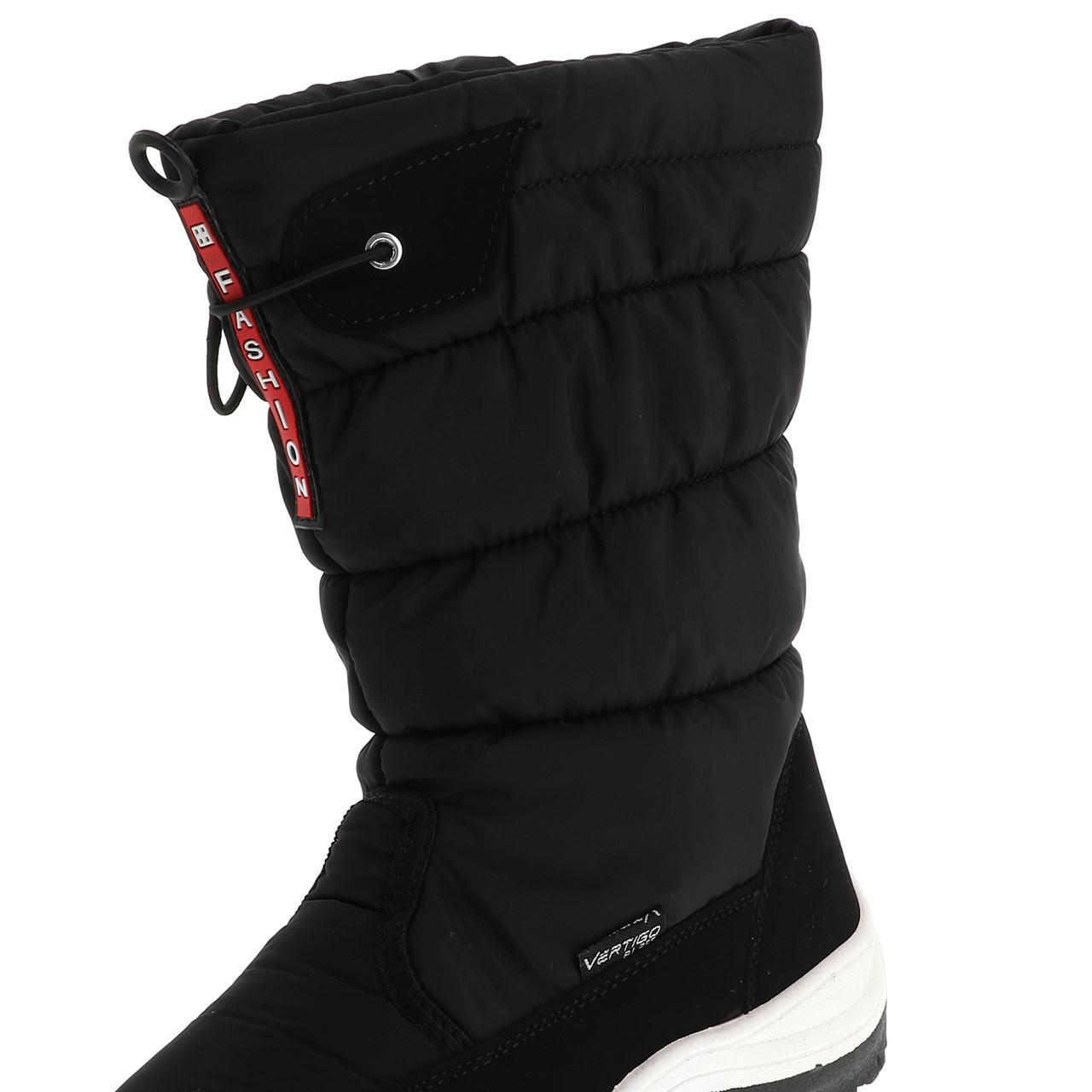 Bottes-neige-apres-ski-Alpes-vertigo-Listo-noir-boots-l-Noir-14439-Neuf miniature 2