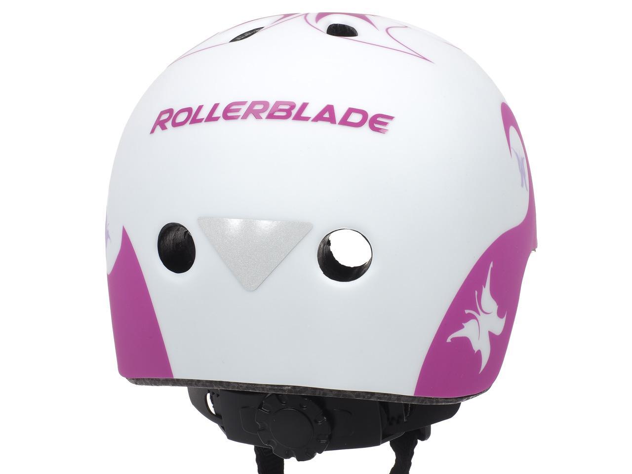 Casque-roller-skate-trotinette-Rollerblade-Twist-jr-blc-casque-Rose-15103-Neuf miniature 2