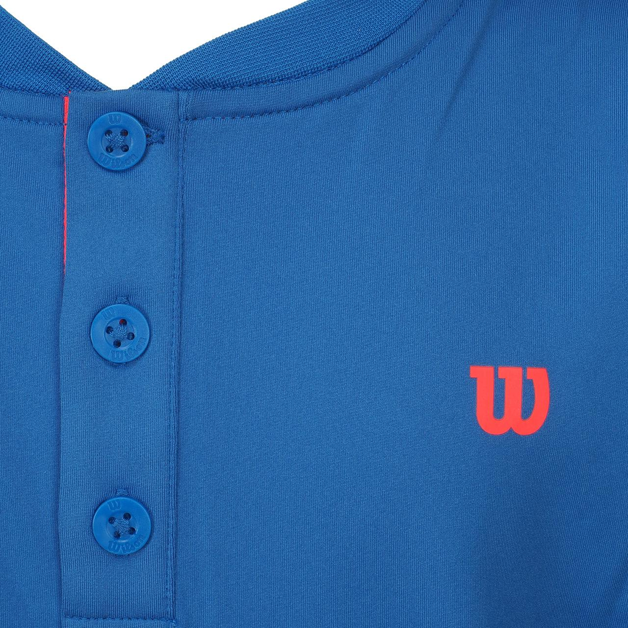 T-Shirt-Tennis-Wilson-Henley-Jr-Blue-Mc-Blue-15572-New thumbnail 2