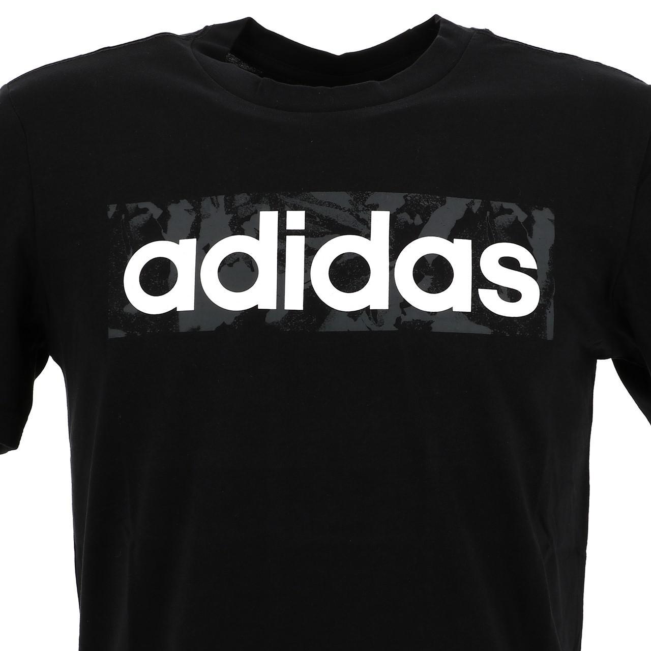 Short-Sleeve-T-Shirt-Adidas-E-Linen-Aop-Box-Blk-Mc-Tee-Black-16677-New