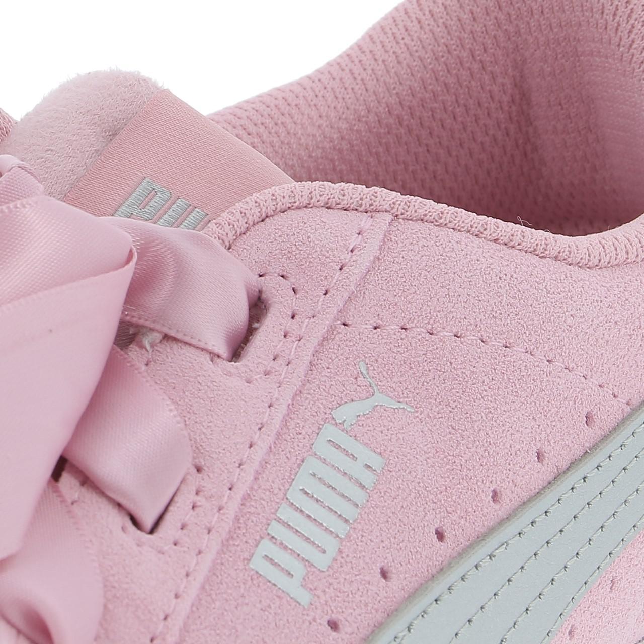 Schuhe-Niedrig-Leder-oder-Faux-Puma-Vikky-Band-Rosa-Maedchen-Rosa-17056-Neu Indexbild 2