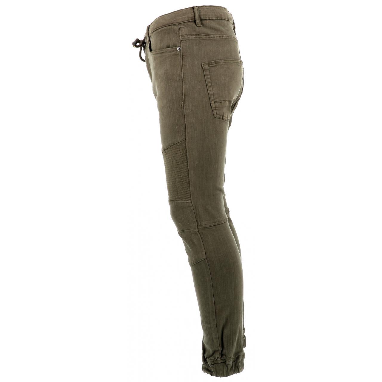 Jeans-Pants-Paname-brothers-Japa-Khaki-Jeans-Green-17196-New thumbnail 2