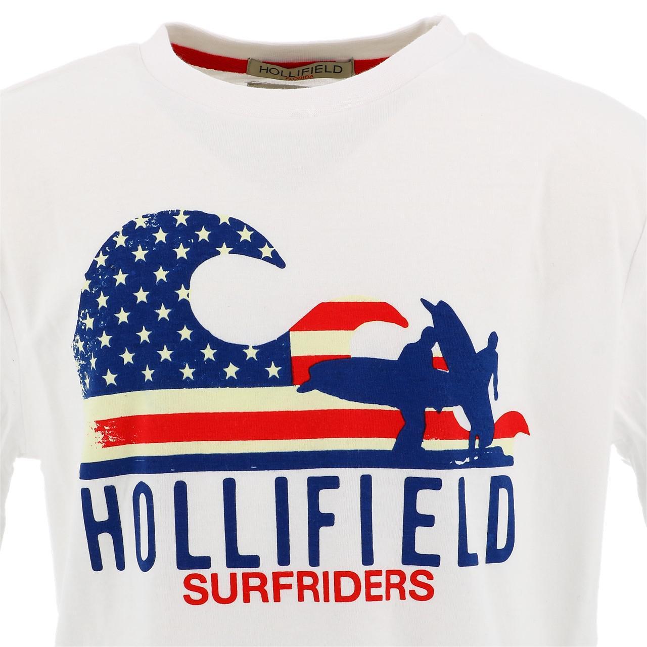 Tee-shirt-manches-courtes-Hollifield-Largo-blanc-mc-tee-jr-sp2-Blanc-17469-Neu miniature 2