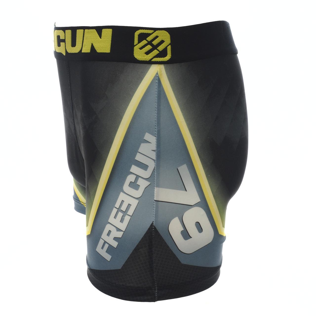 Underwear-Boxer-Freegun-Green-Black-Vrt-Black-Boxer-17919-New thumbnail 2