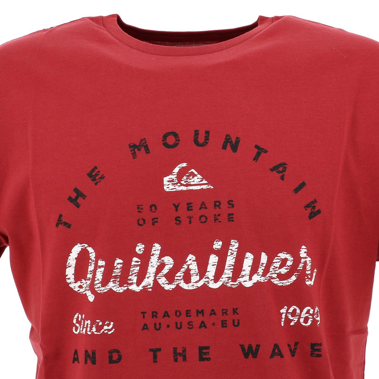 Short-Quiksilver-Drop-IN-Drop-Out-Red-Tee-Red-17966-New thumbnail 2