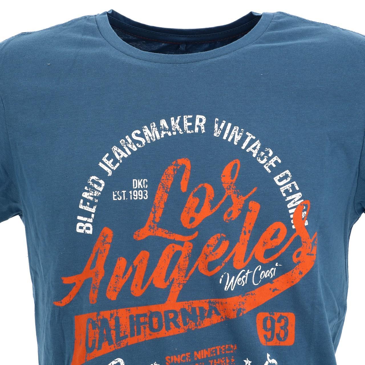 Short-Sleeve-T-Shirt-Blend-Angel-Coronet-Blue-Mc-Tee-Blue-18047-New thumbnail 2