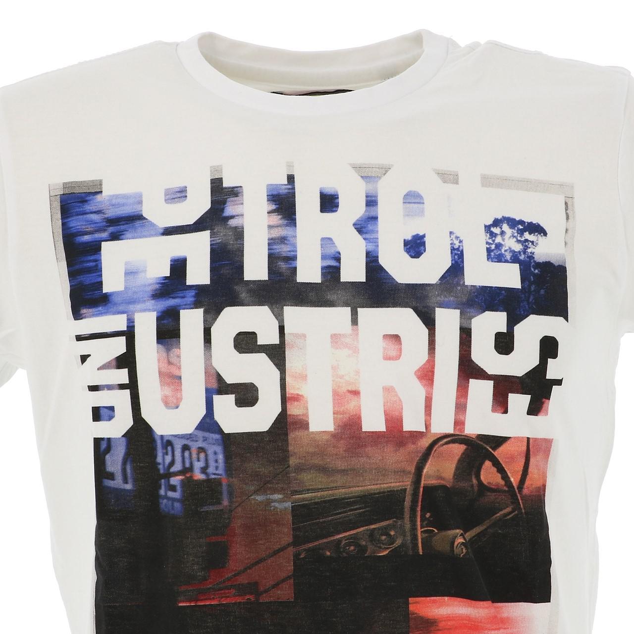 Short-Sleeve-T-Shirt-Petrol-Industries-Tsr618-Bright-White-Tee-White-18081 thumbnail 2