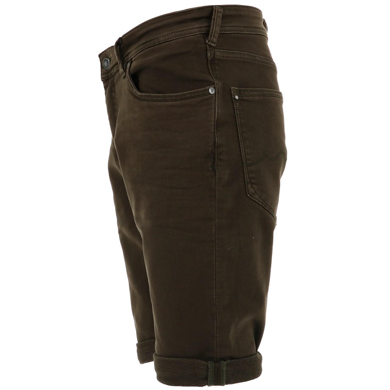 Bermuda-Shorts-Teddy-Smith-Scotty-3-Middl-Khaki-Shorts-Green-18133-New thumbnail 2