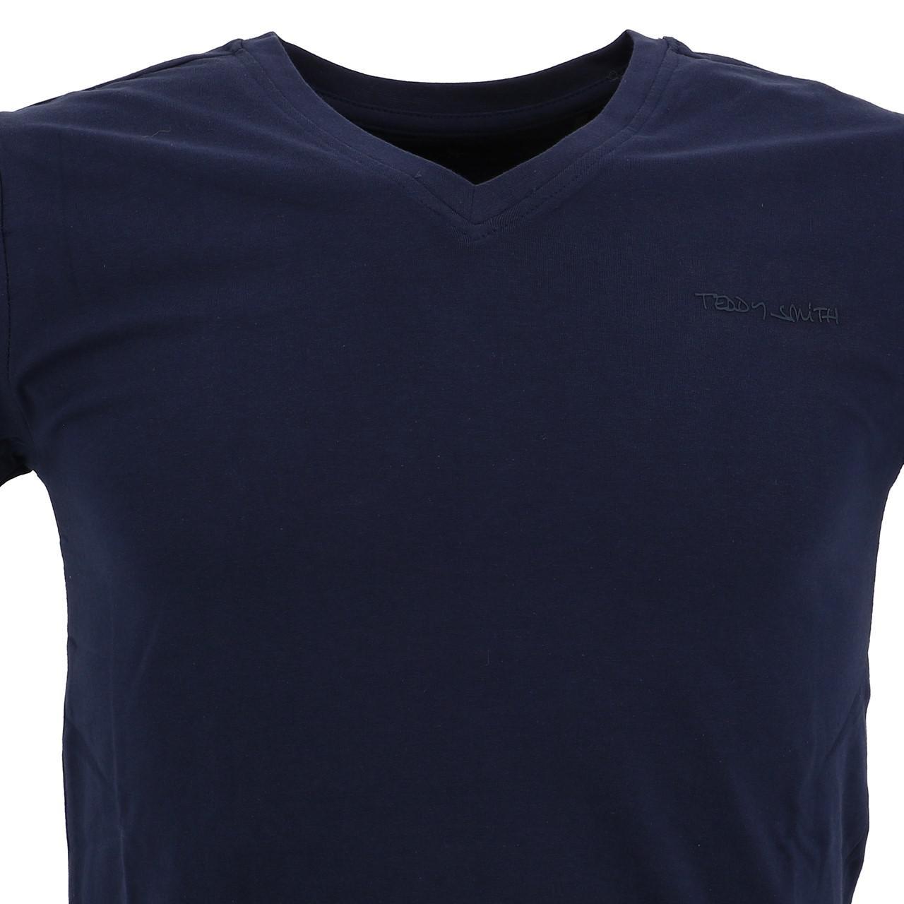 Short-Sleeve-T-Shirt-Teddy-Smith-Tawax-US-Navy-Mc-Tee-Blue-18153-New thumbnail 2