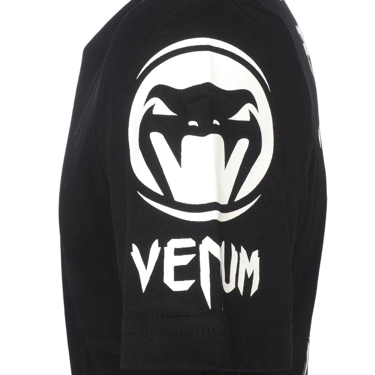 Short-Sleeve-T-Shirt-Venum-Logo-Black-Wht-Mc-Tee-Black-18232-New thumbnail 2