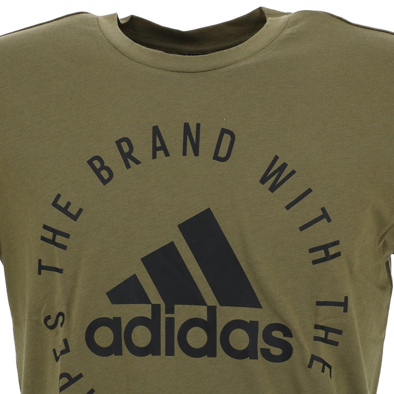 Short-Adidas-Sid-Khaki-Mc-Tee-Green-18234-New thumbnail 2