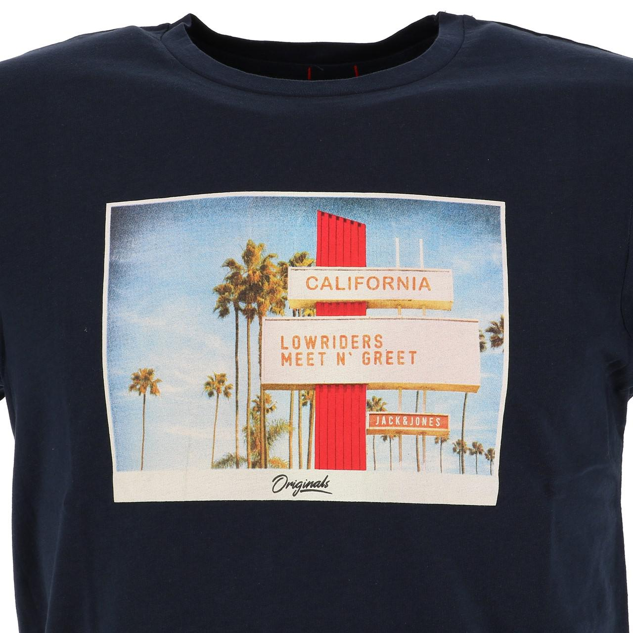Short-Jack-and-jones-Hotel-Total-Eclipse-Tee-Blue-18535-Does-Not thumbnail 2