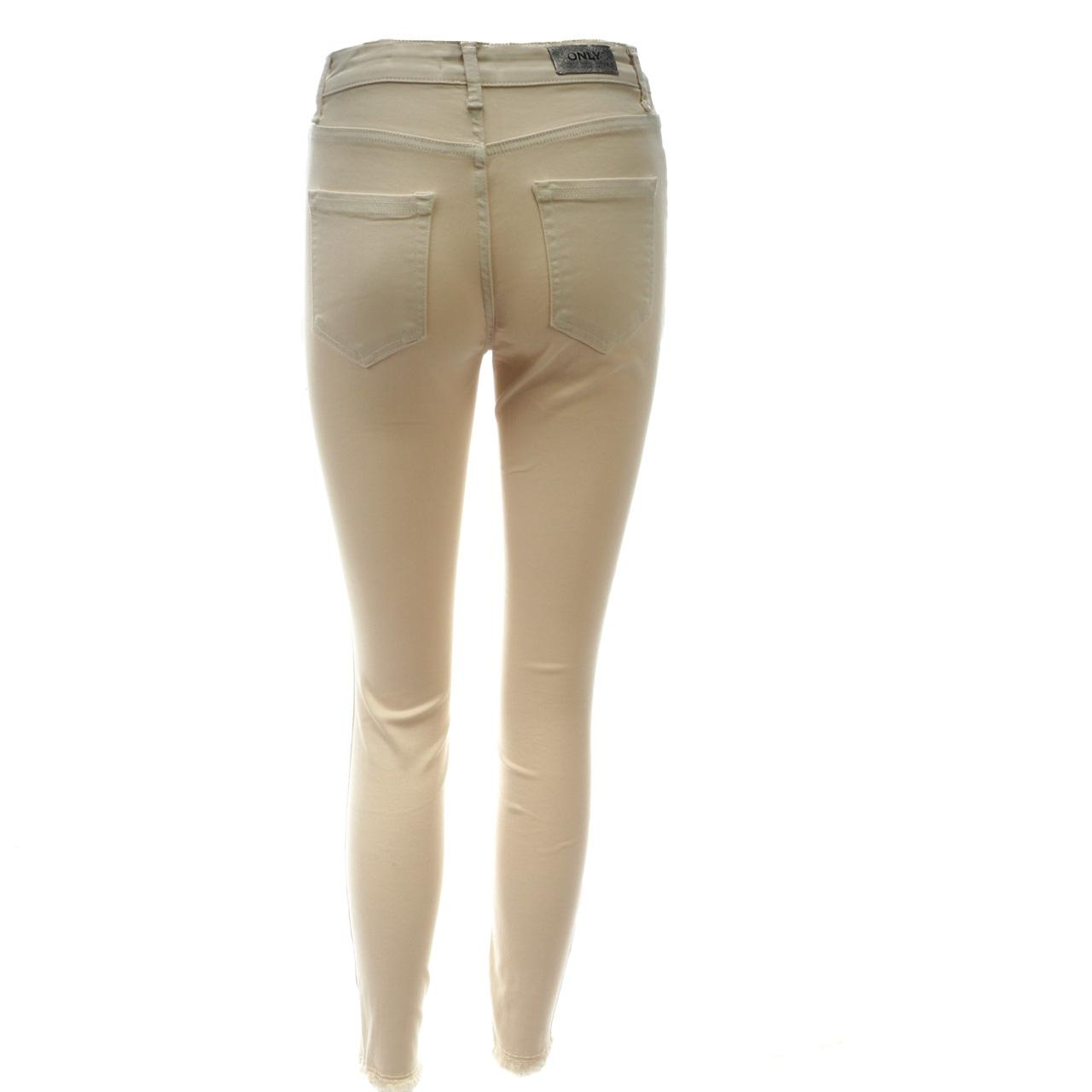 Trousers-Slim-Jeans-only-Blush-32-Egret-Jeans-L-Beige-18666-New thumbnail 2