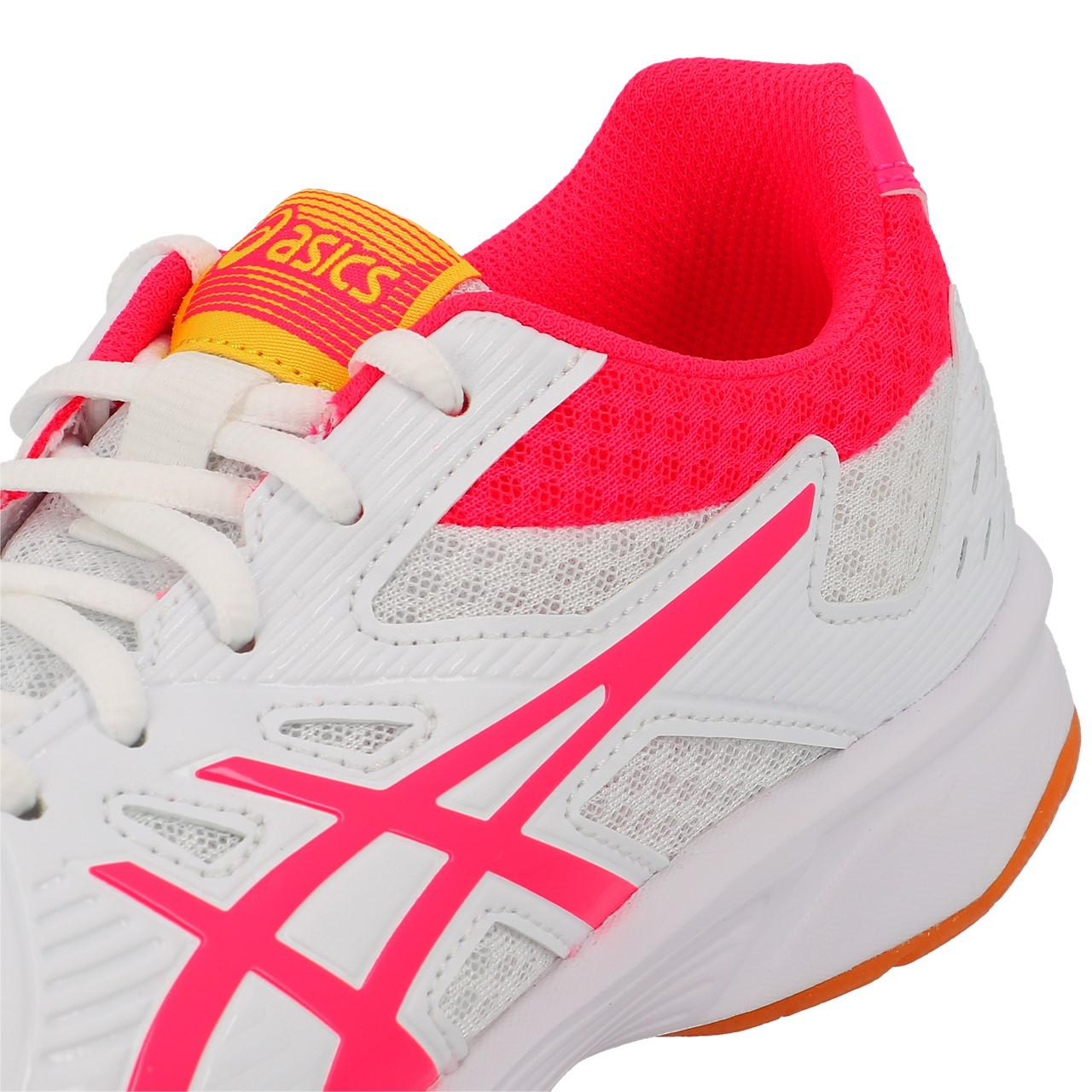 Shoes-Volleyball-Basketball-Asics-Upcourt-3-Wht-Indoor-G-White-19557-New thumbnail 2