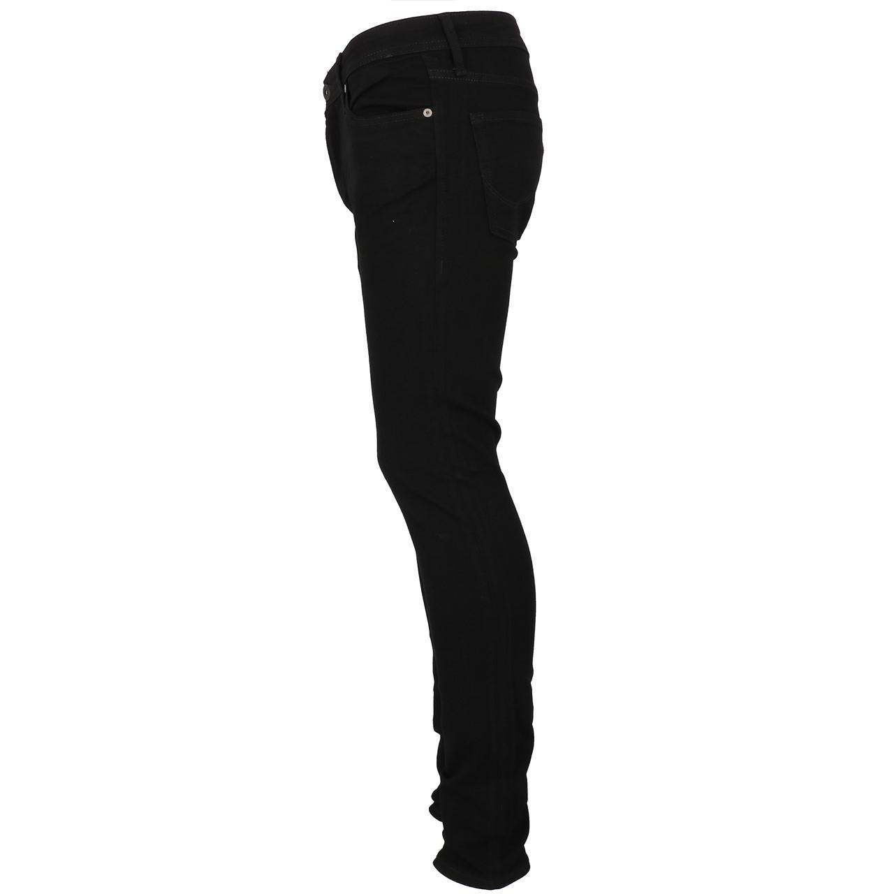 Jeans-Pants-Jack-and-jones-Liam-32-Blk-Denim-Black-Jeans-19909-New thumbnail 2
