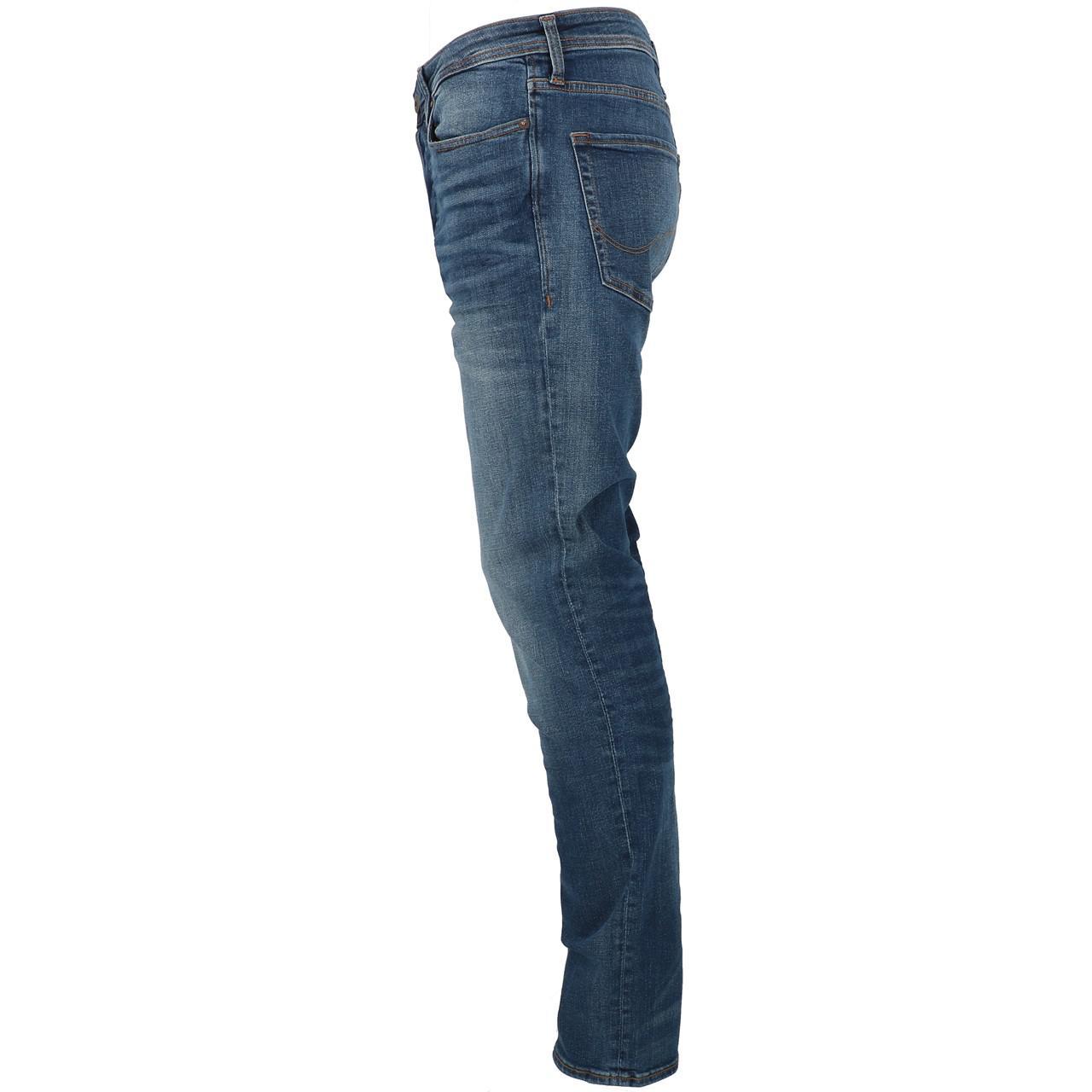 Jeans-Pants-Jack-and-jones-Tim-34-Blue-Denim-Blue-Jeans-19918-New thumbnail 2