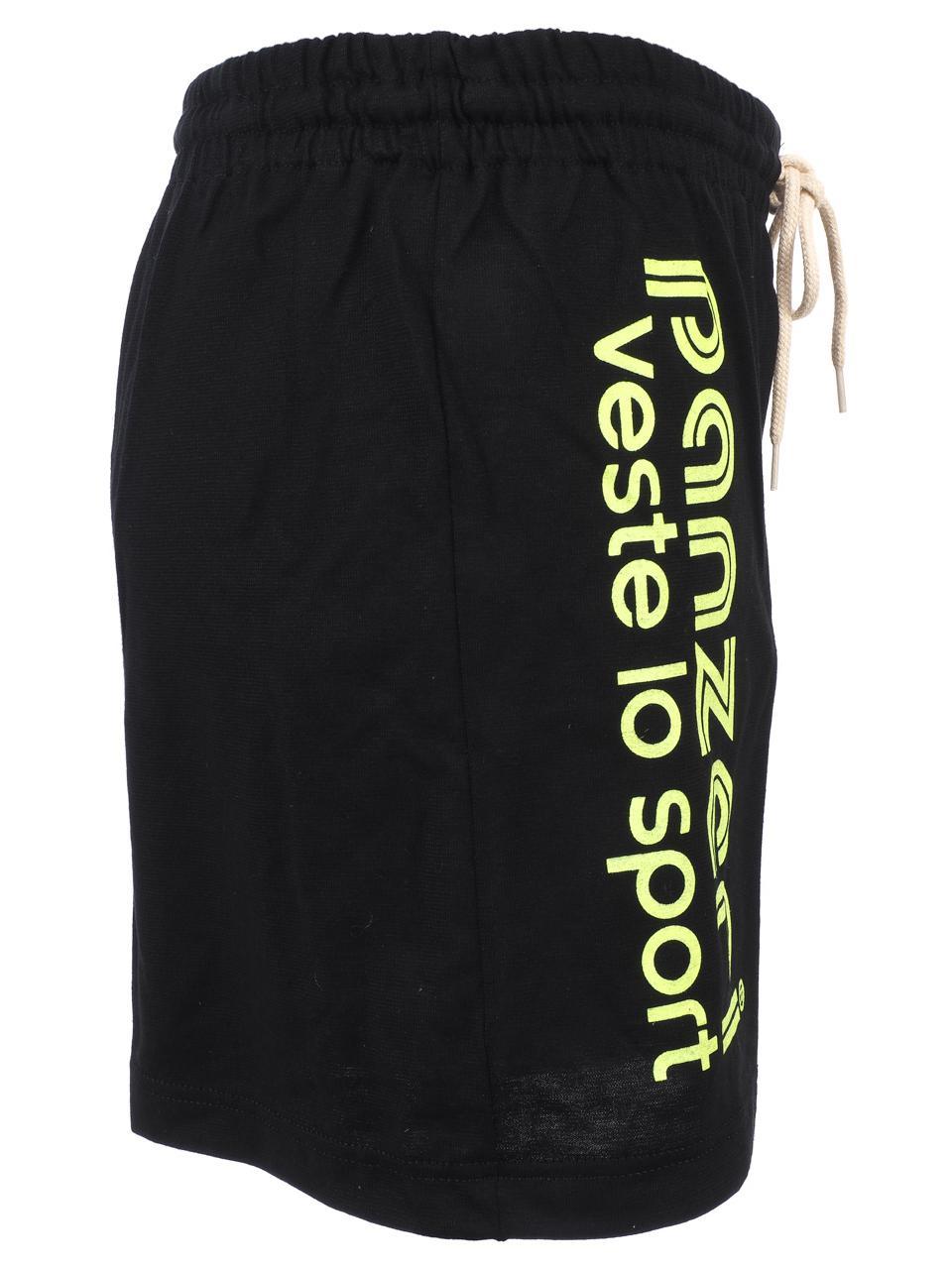 Shorts-Multi-Panzeri-Plain-a-Black-Flowers-Jne-Jersey-Black-22068-New thumbnail 2