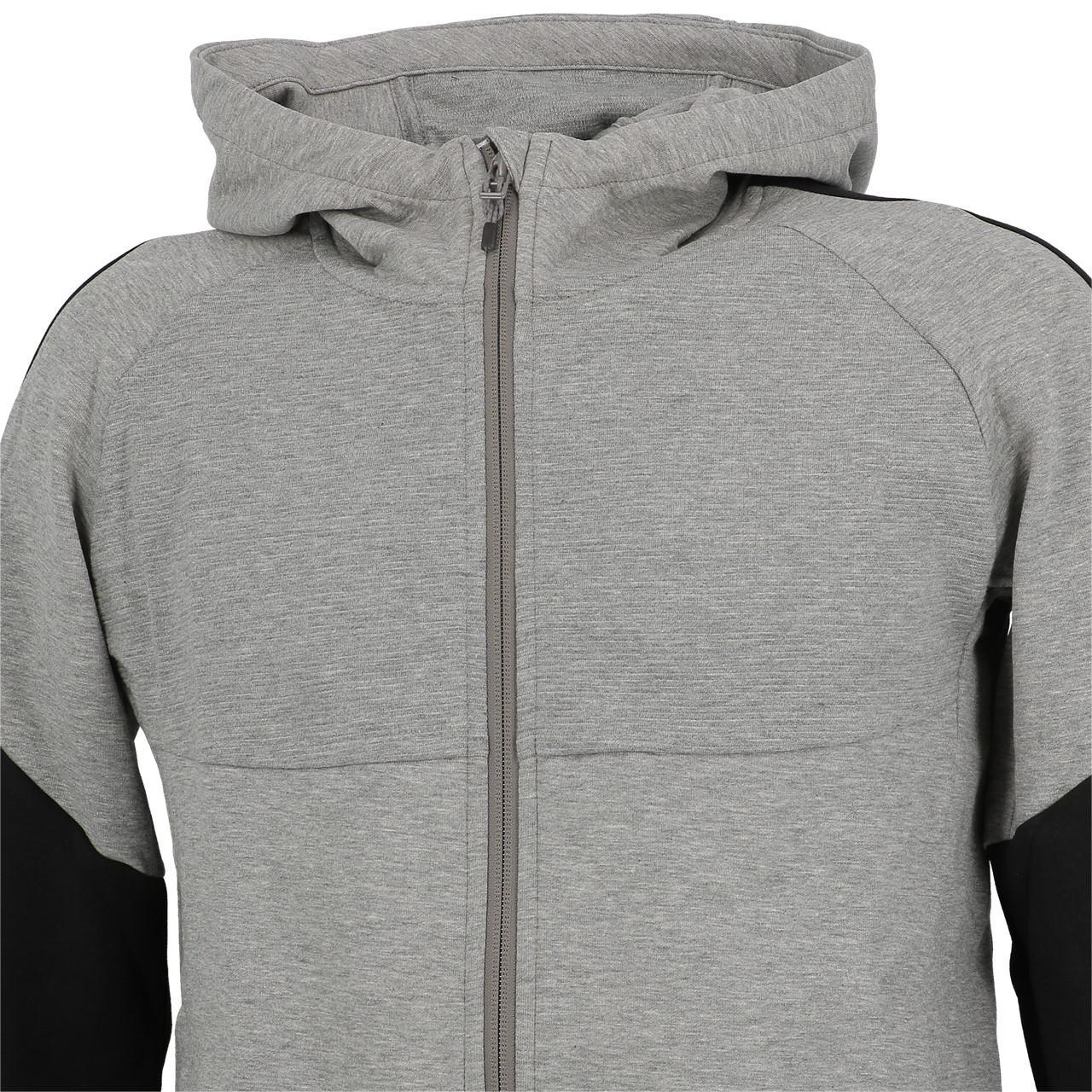 Jacken-Sweatshirts-Zipped-Kapuze-Puma-Evostripe-Anc-Fzcap-Sw-Jr-Grau-25708-Neu Indexbild 2