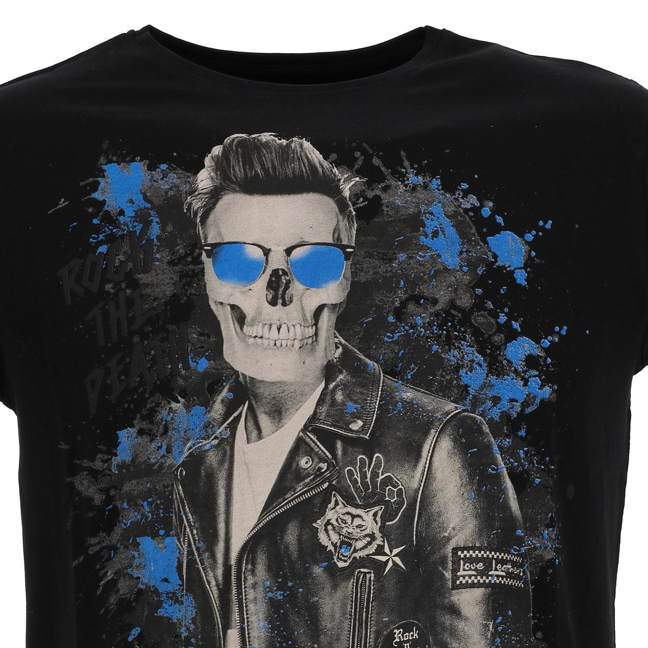 Short-Sleeve-T-Shirt-Paname-Brothers-Merico-Black-Mc-Tee-Black-26749-New thumbnail 2