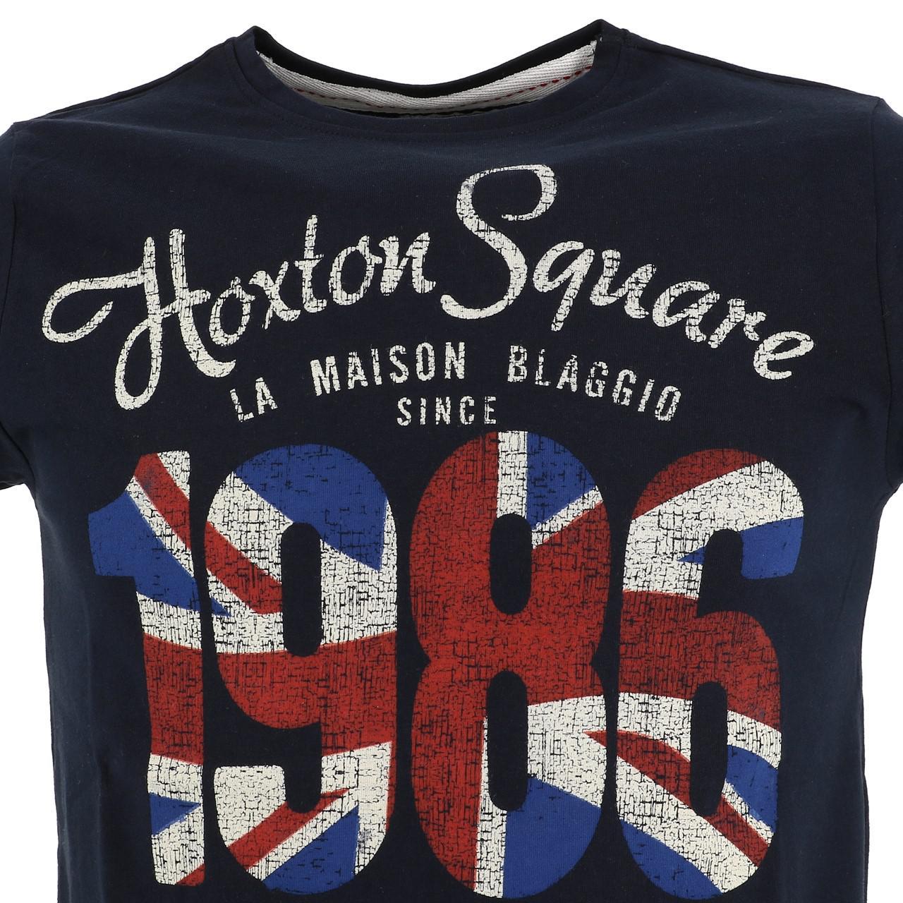 Short-Sleeve-T-Shirt-La-Maison-Blaggio-Marteli-Navy-Mc-Tee-Blue-27339-New thumbnail 2