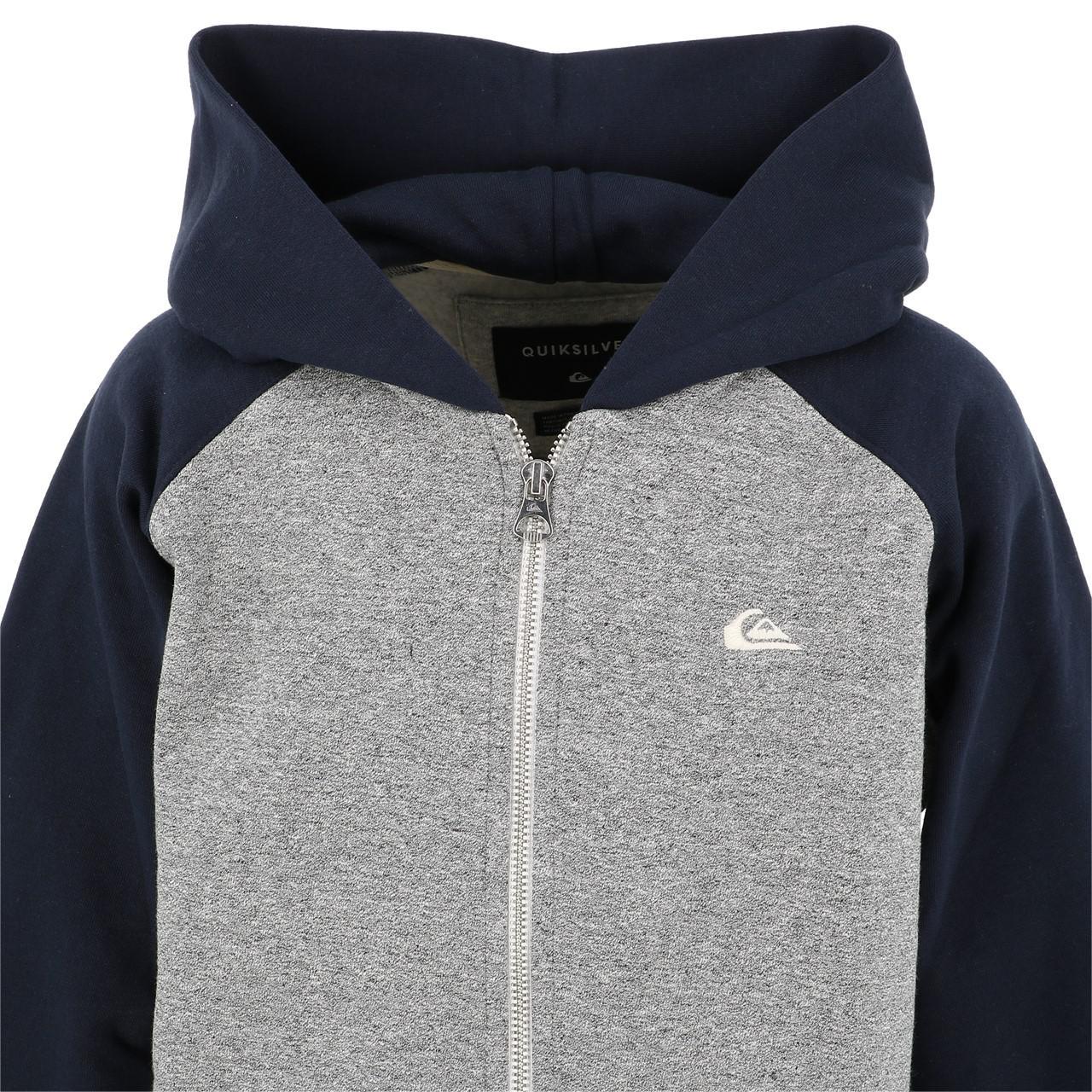 Jacken-Sweatshirts-Zipped-Kapuze-Quiksilver-Everyday-Grc-Fz-Umhang-Sw-Jr-Grau Indexbild 2