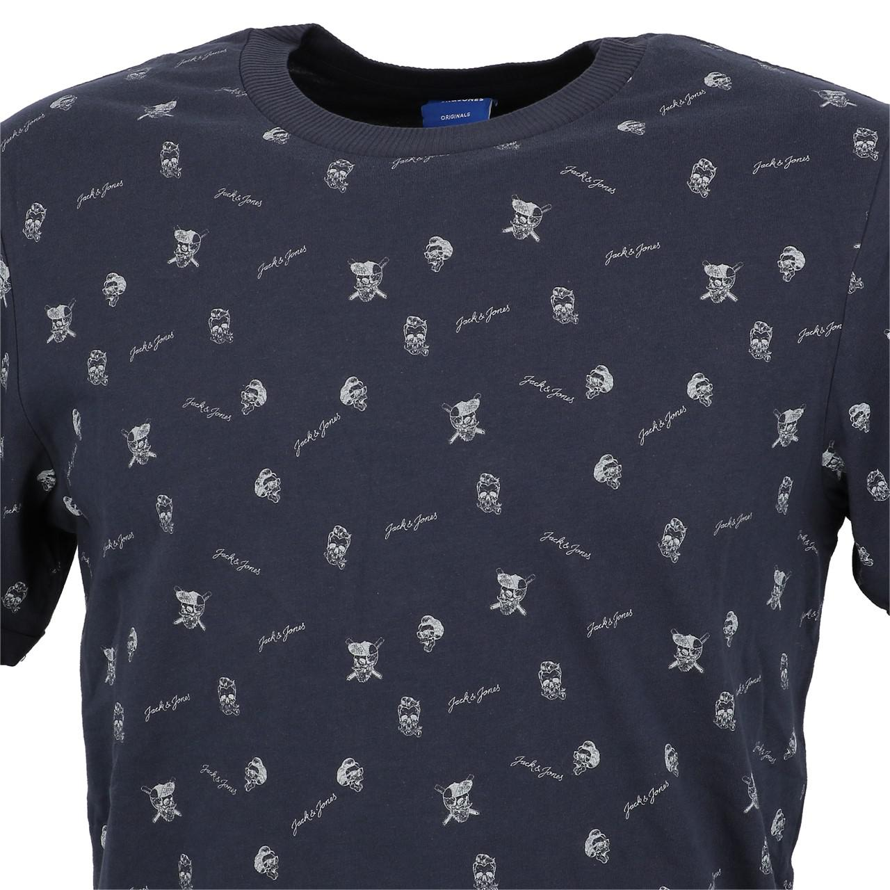 Short-Sleeve-T-Shirt-Jack-and-Jones-Cam-Total-Eclipse-Mc-Tee-Blue-28409-N thumbnail 2