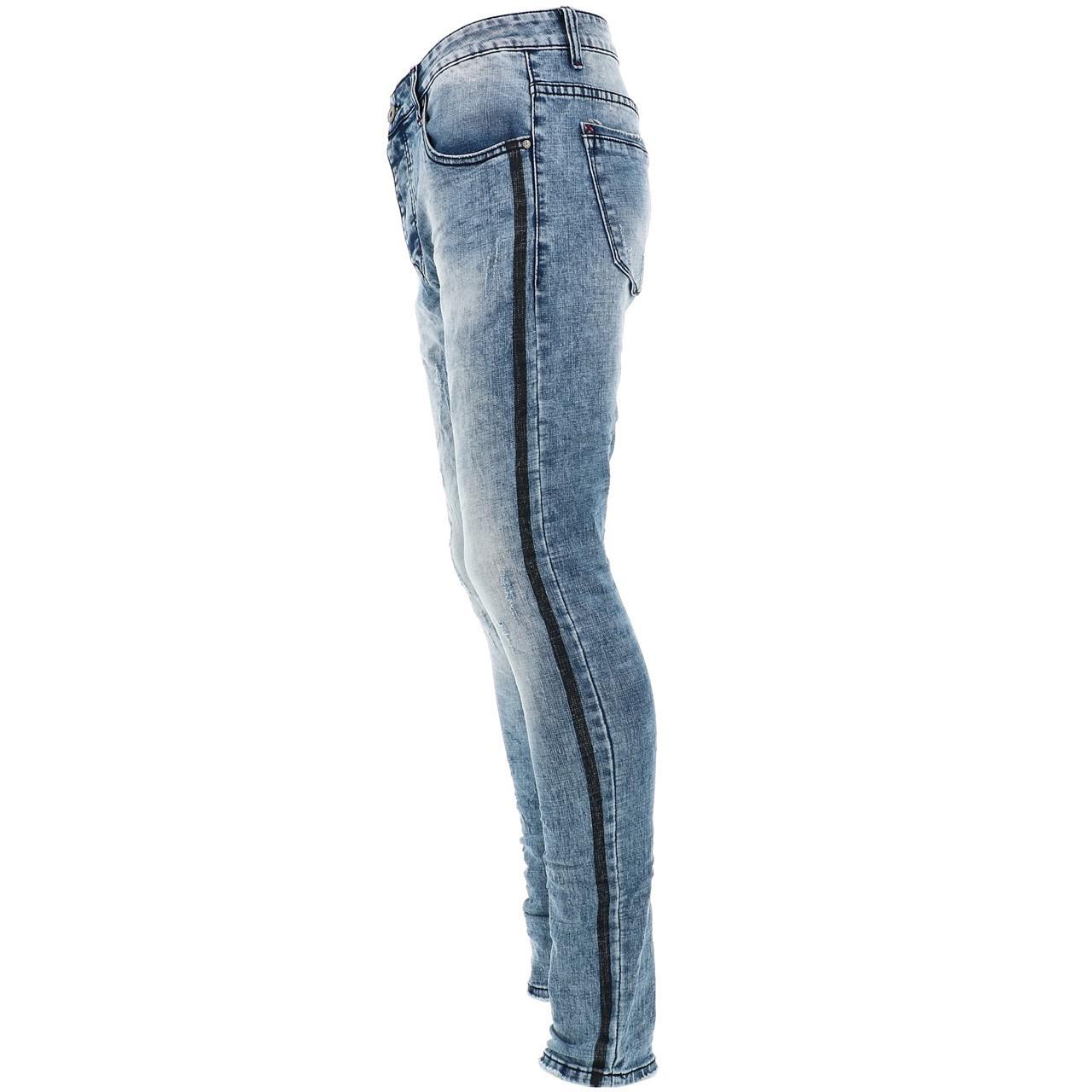 Jeans-Pants-Slim-Terance-Koll-Oscar-Denim-Jeans-Skinny-Blue-28526-New thumbnail 2
