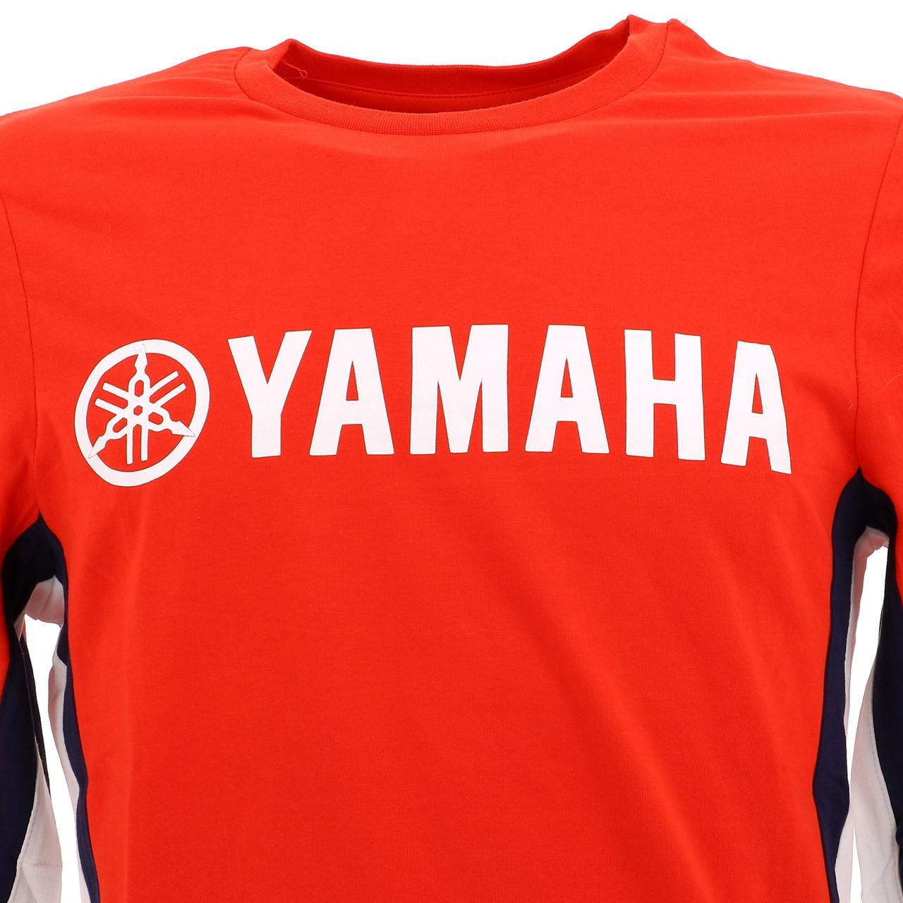 T-Shirt-Long-Sleeves-Yamaha-Yam-C-Red-ML-Tee-Red-28650-New