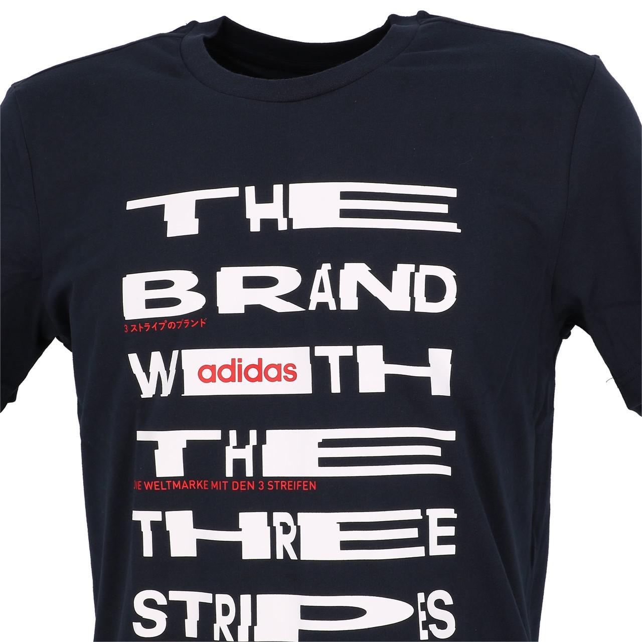 Short-Adidas-Dist-Fnt-Navy-White-Mc-Tee-Blue-29223-New thumbnail 2