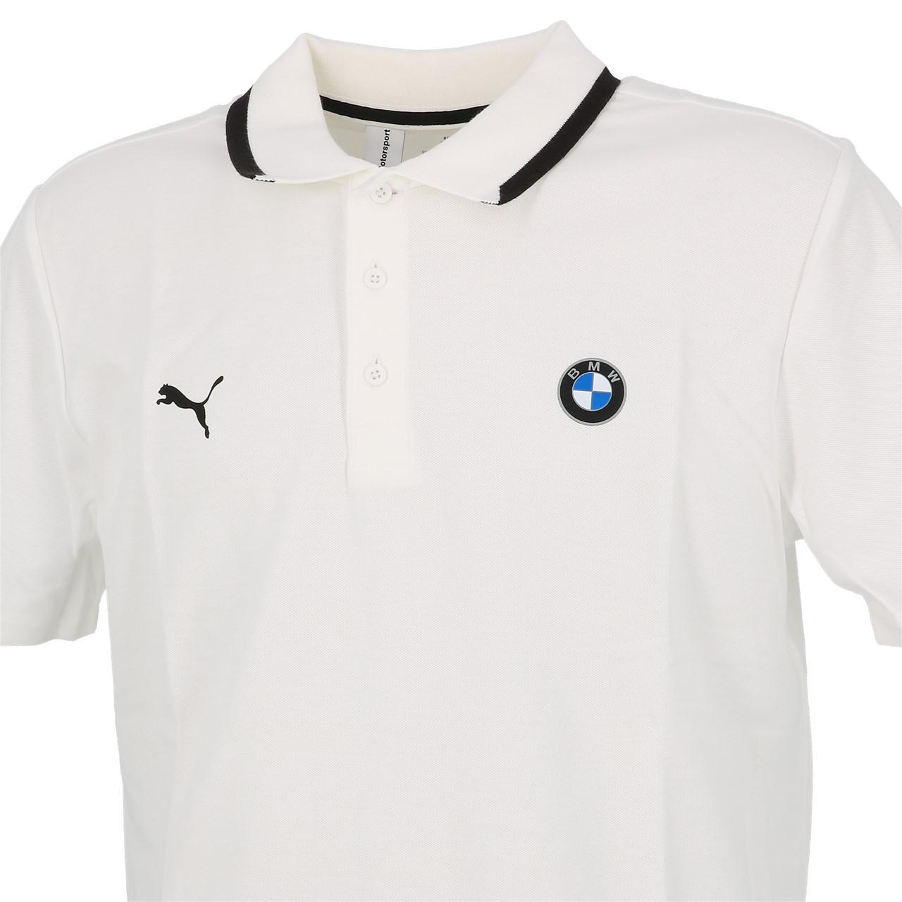 Short-Sleeve-Polo-Puma-BMW-Mms-Wht-Mc-Polo-White-30113-New thumbnail 2