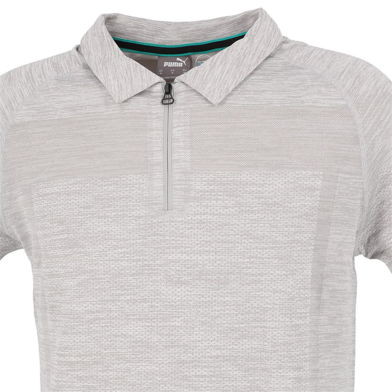 Short-Sleeve-Polo-Puma-Mapm-Rct-Evoknit-Groups-Polo-Grey-30141-New thumbnail 2