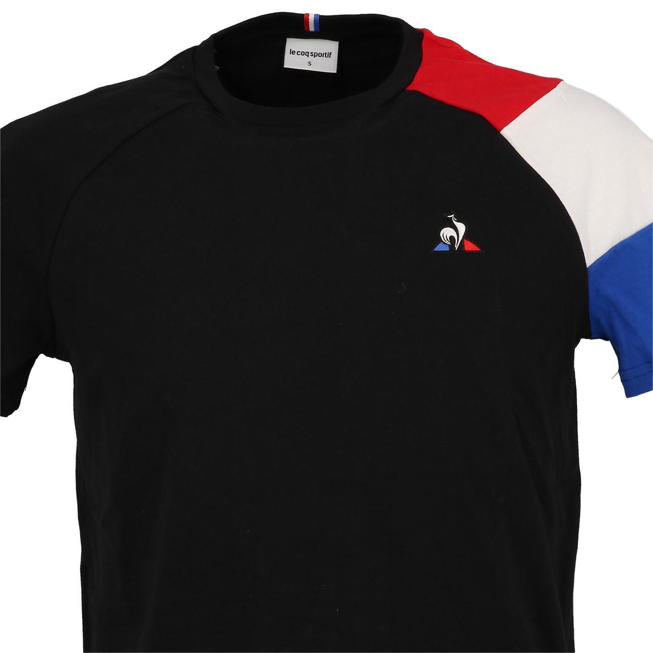 Short-Le-coq-sportif-Tricolor-Tee-H-Black-Black-40704-New thumbnail 2