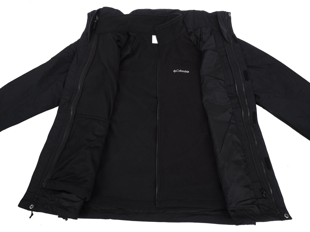Jackets-3-in-1-Columbia-Mission-Air-Black-Black-41300-New thumbnail 2