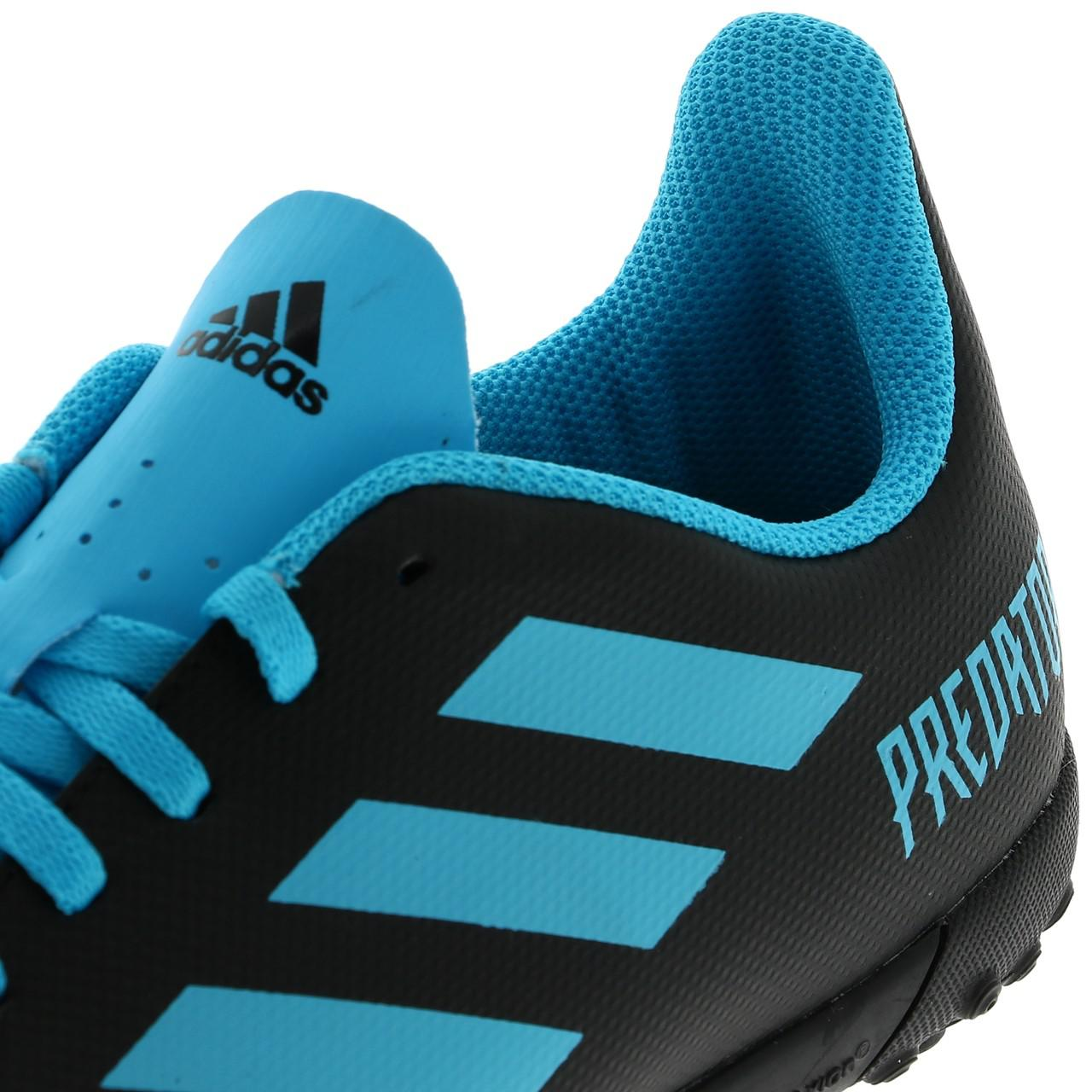 Football-Shoes-Stabilized-Adidas-Predator-19-4-Tf-Jmoule-Jr-Black-42177-N thumbnail 2