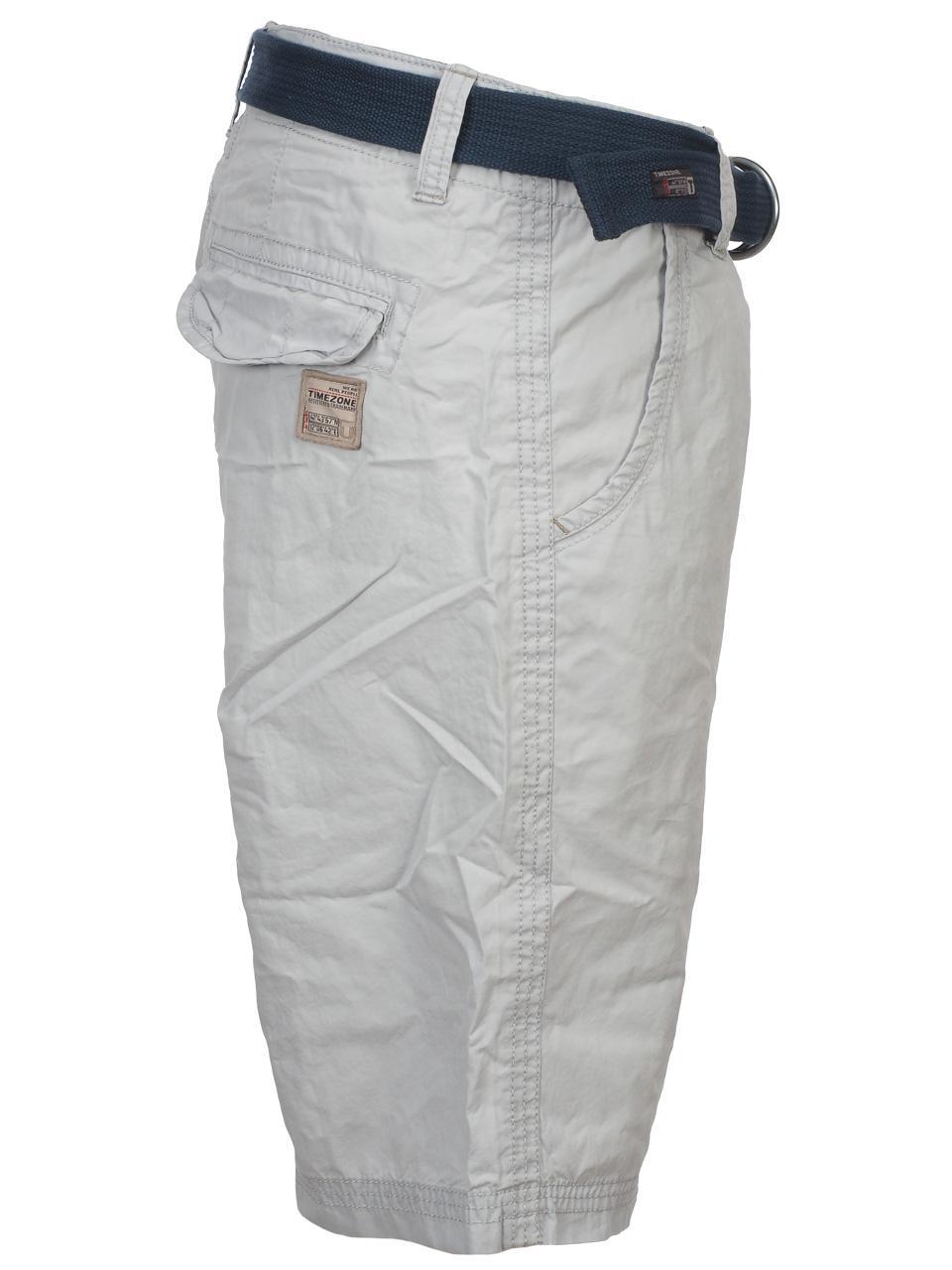 Bermuda-Shorts-Timezone-Russell-Light-Grey-Shorts-Grey-42181-New thumbnail 2