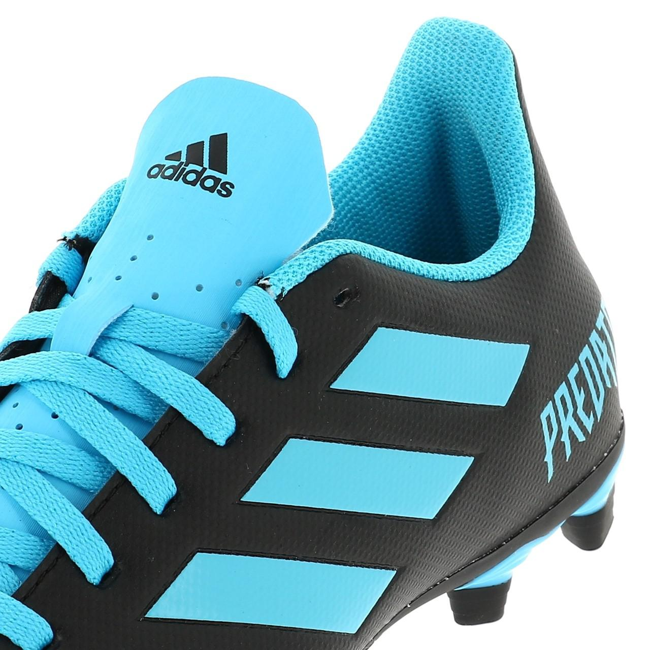 Chaussures-football-lamelles-Adidas-Predator-19-4-fg-grorg-Noir-42821-Neuf miniature 2