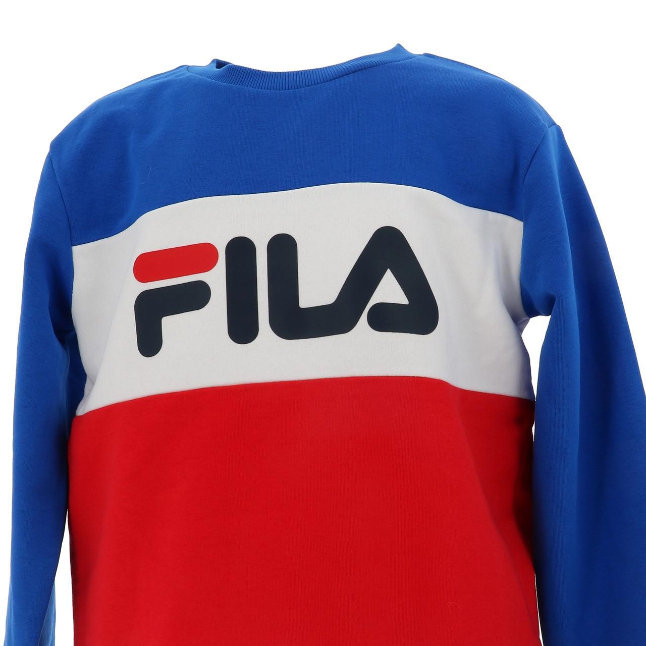 Sweatshirt-Fila-Nacht-Blockiert-Jr-Roy-Rge-Blau-43025-Neu Indexbild 2