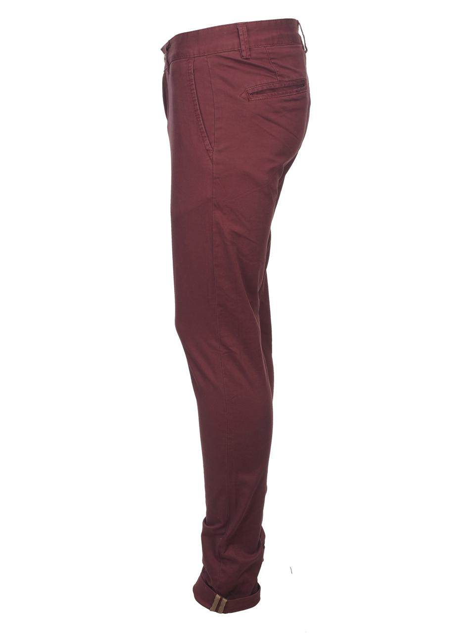 Pantalon-Crossby-Chino-bordeaux-pant-Rouge-44066-Neuf miniature 2