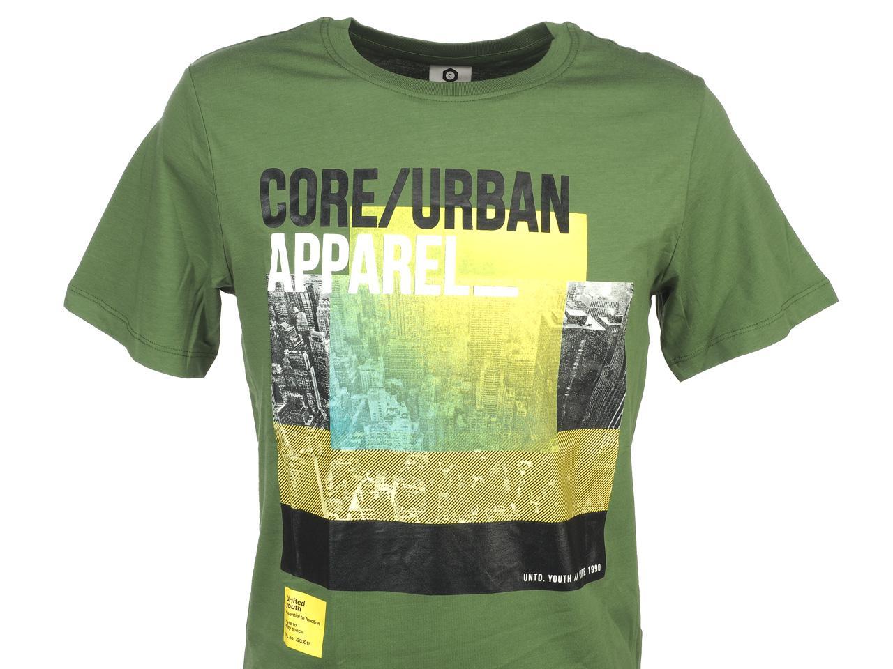 Short-Sleeve-T-Shirt-Jack-and-Jones-Dave-Vineyard-Green-Tee-44186-Does-Not thumbnail 2