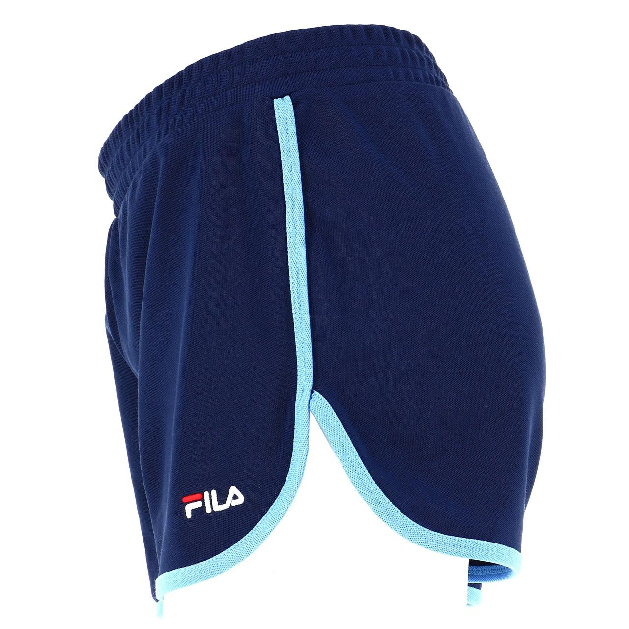 Bermuda-Shorts-Fila-Paige-Shorts-Vintage-W-Blue-45218-New thumbnail 2