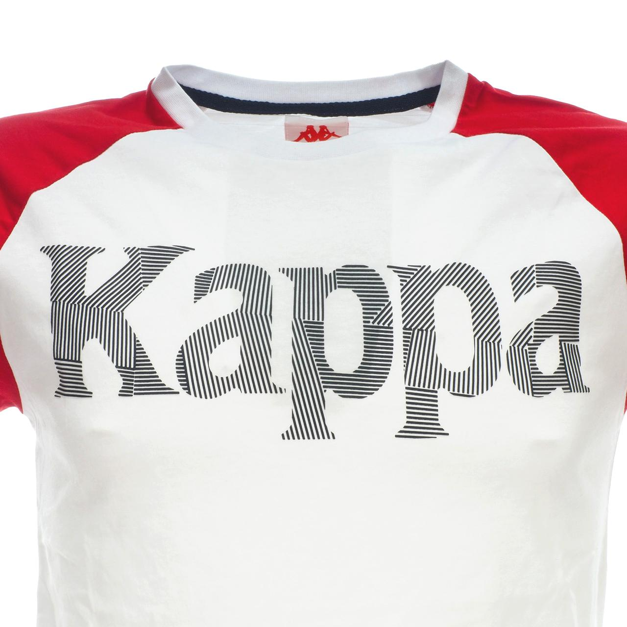Short-Sleeve-T-Shirt-Kappa-Irmiou-Red-White-Navy-White-46521-New thumbnail 2