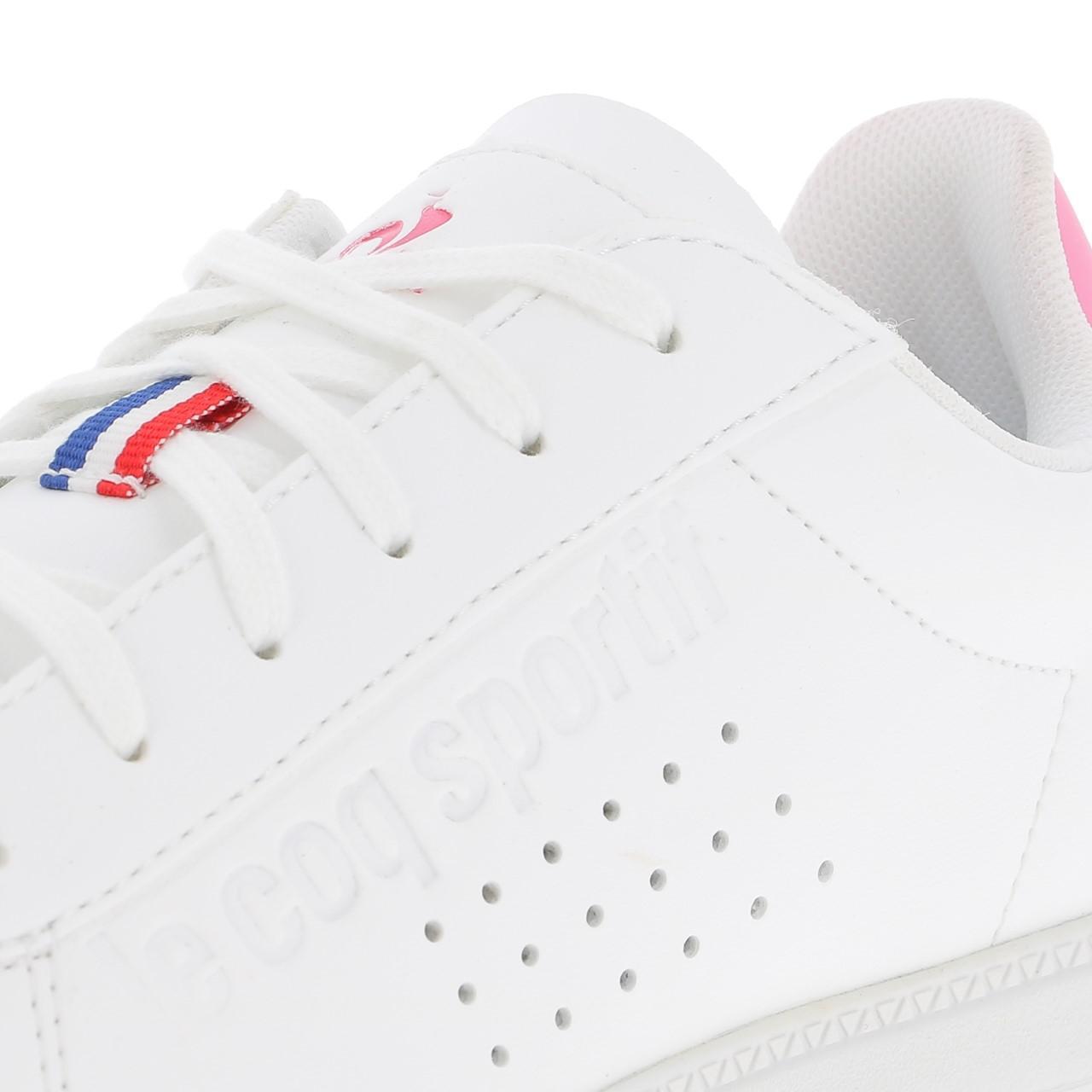 Schuhe-Niedrig-Leder-oder-Faux-Le-Coq-Sportif-Courtset-Maedchen-Blc-Weiss-47681 Indexbild 2