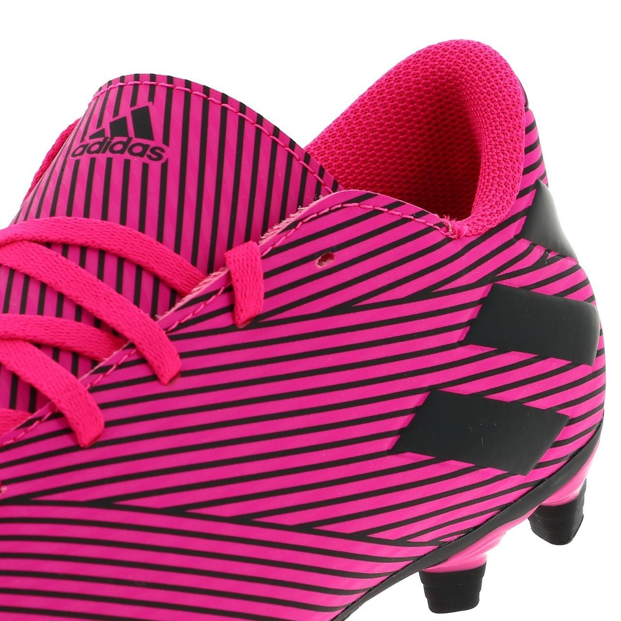 Football-Shoes-Flap-Adidas-Nemeziz-19-4-Fxg-Pink-48290-New thumbnail 2