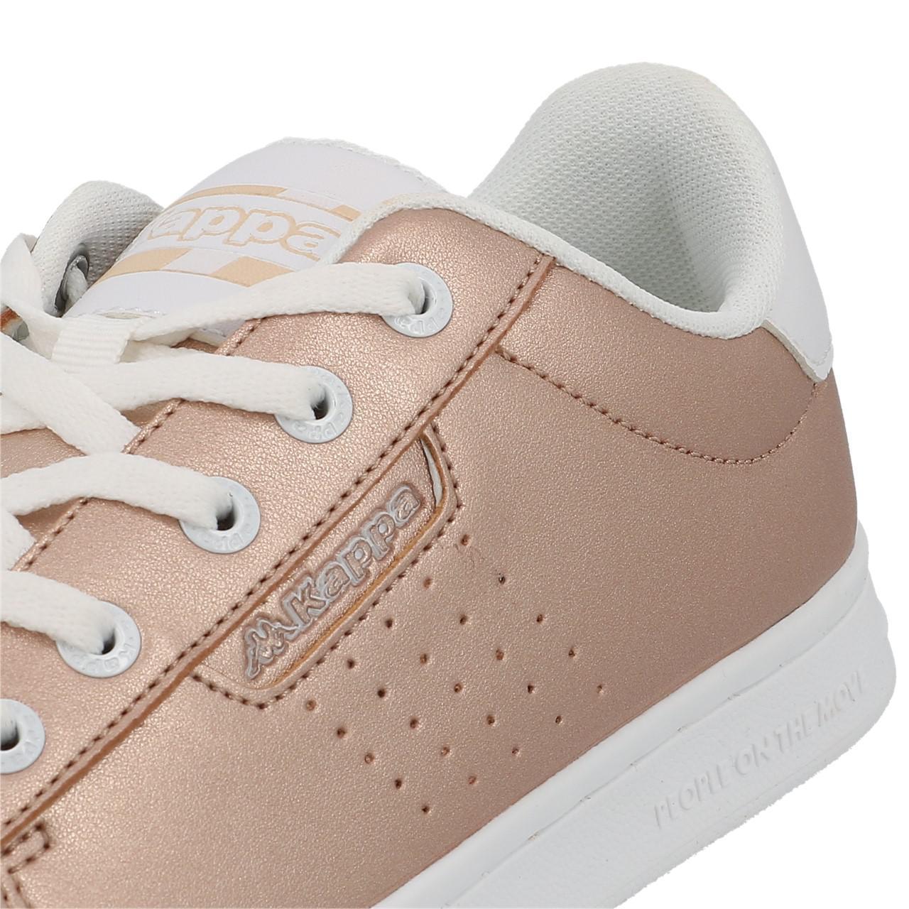 Schuhe-Niedrig-Leder-oder-Faux-Kappa-Tchouri-Schnuersenkel-Rauch-Beige-49612 Indexbild 2