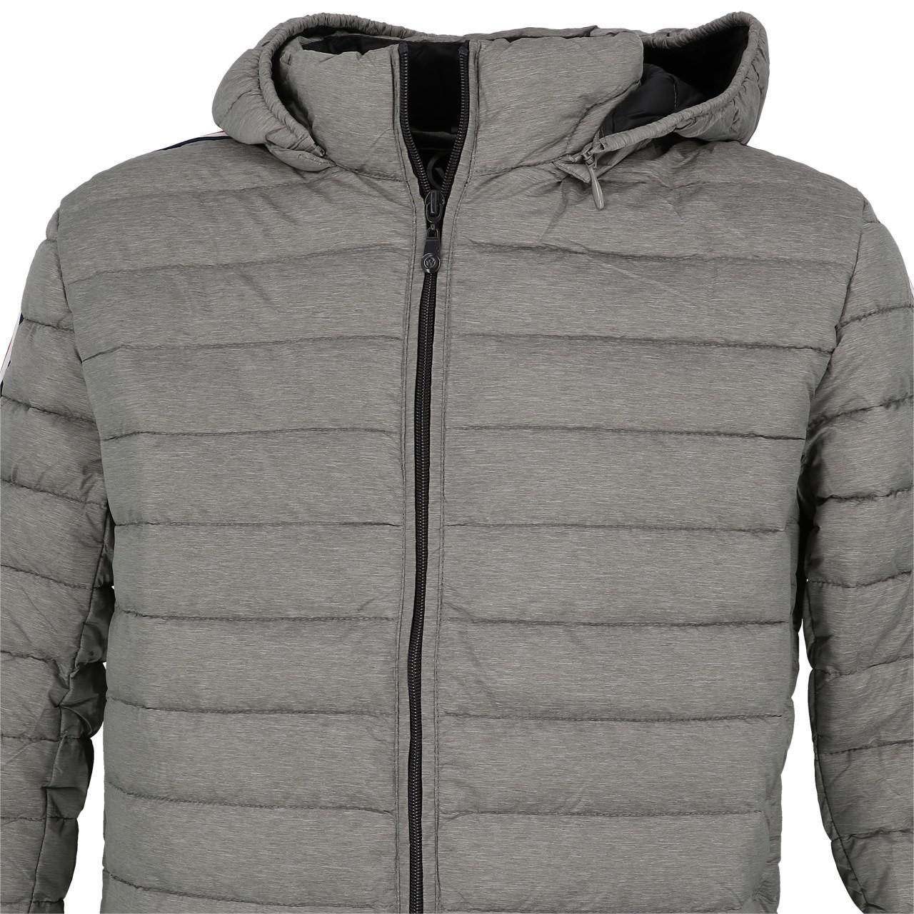Synthetic-Jackets-Waxx-Shelter-Stripes-Metal-H-Grey-50764-New thumbnail 2